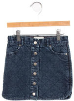 Stella McCartney Girls' Quilted Denim Skirt