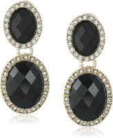 """Anne Klein Merry and Bright"""" Gold-Tone, and Pave Post Drop Earrings"""