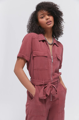 Urban Outfitters Victory Zip-Front Coverall Jumpsuit