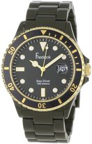 Freelook Men's HA1438-8 Sea Diver Military Green with Black Bezel Watch