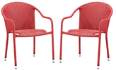 Crosley Palm Harbor Outdoor Stackable Chairs (Set of 2)