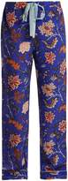 Diane von Furstenberg Floral-print silk crepe de Chine pyjama trousers