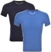 Ralph Lauren 2 Pack Crew Neck T Shirts Blue