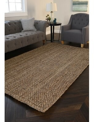 Kosas Home Hand-Braided Natural Area Rug Home Rug Size: Rectangle 2' x 3'