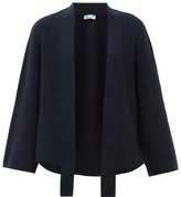 Johnstons of Elgin Johnston's Of Elgin - Raglan-sleeve Ribbed-cashmere Waterfall Cardigan - Womens - Navy