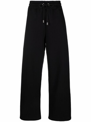 GCDS Logo-Print High-Waist Sweatpants