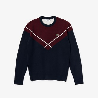 Lacoste Men's Made In France Crewneck Jacquard Sweater
