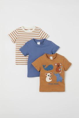 H&M 3-pack Cotton Jersey T-shirts - Beige