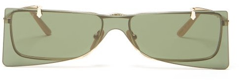 Gucci Square Frame Metal Sunglasses - Mens - Gold