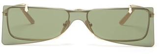 Gucci Square Metal Sunglasses - Mens - Gold