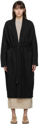 LAUREN MANOOGIAN SSENSE Exclusive Black Fluffy Robe Coat