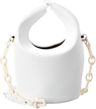 Nico Giani Kalea Top Handle Leather Bucket Bag