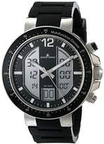 Jacques Lemans Men's 1-1726A Milano Analog-Digital Display Quartz Black Watch