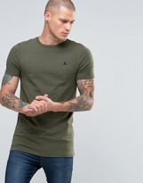 Asos Longline Muscle T-Shirt With Logo In Green Marl