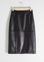Thumbnail for your product : And other stories Midi Leather Pencil Skirt