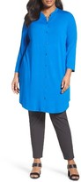 Eileen Fisher Plus Size Women's Jersey Mandarin Collar Tunic
