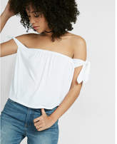 Express one eleven off the shoulder abbreviated tee