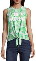 Fifth Sun Aloha Weekend Allover Palm Tank - Junior