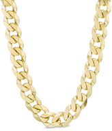 Zales Men's 10K Gold 10.3mm Curb Chain Necklace - 24""
