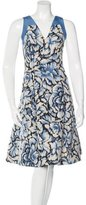 Carolina Herrera Floral Flare Dress w/ Tags