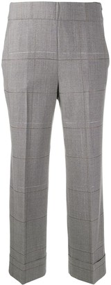 Peserico Cropped Check Trousers
