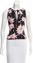 Blumarine Floral Sleeveless Top w/ Tags