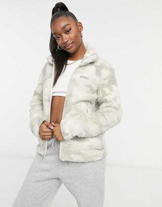 Columbia Winter Pass sherpa full zip fleece in white