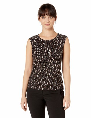 Kasper Women's Petite Cap Sleeve Jewel Neck Printed FOIL ITY