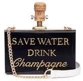 Cecilia Ma 'Save Water' acrylic box clutch