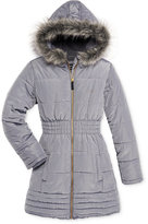 Calvin Klein Everest Puffer Jacket with Faux-Fur Trim, Toddler Girls (2T-5T) & Little Girls (2-6X)