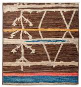 "Solo Rugs Moroccan Area Rug - Brown Multi, 4'3"" x 4'6"""