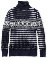 L.L. Bean Cotton/Cashmere Sweater, Turtleneck Snowflake