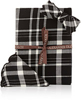 Alexander Olch Men's Window Plaid Set-BLACK