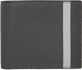 Valextra Grey Stripe 6cc Bifold Wallet