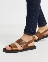 Base London empire sandals tan leather