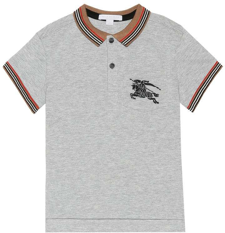 Burberry Embroidered cotton polo shirt