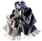 Ledro Multi Tone Blue and Grey Italian Wool Scarf