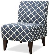 Apt2B Westin Accent Chair BLUE / WHITE