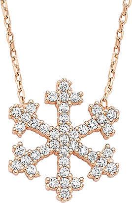 FLAKE Amorium 18K Rose Gold Over Silver Cz Snow Necklace