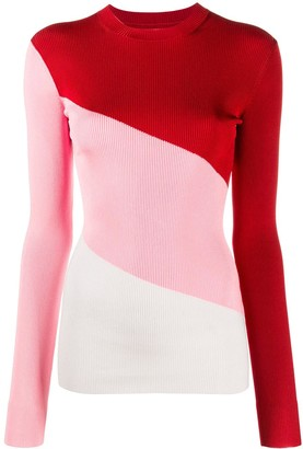 Peter Do Colour-Block Ribbed Top