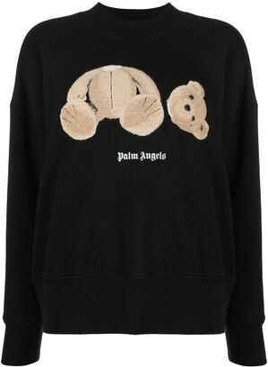 Palm Angels Teddy Motif Sweatshirt