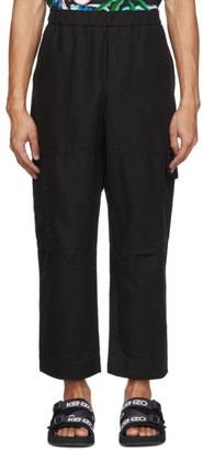 Kenzo Black Cropped Cargo Pants
