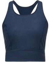 The Upside Amy Cropped Training Tank Top - Womens - Navy Multi