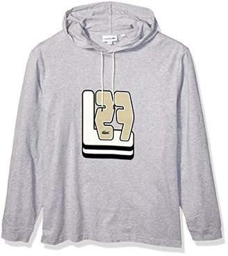 Lacoste Men's Long Sleeve 3D Jersey Hooded TEE Shirt