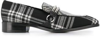 Giuseppe Zanotti Angeles plaid loafers