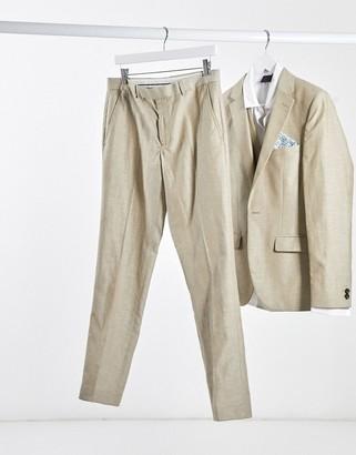 Rudie linen slim fit suit trousers