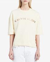 Calvin Klein Jeans Cutout Logo Sweatshirt