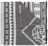 Kenzo Aztec print scarf