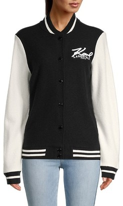 Karl Lagerfeld Paris Wool-Blend Varsity Jacket