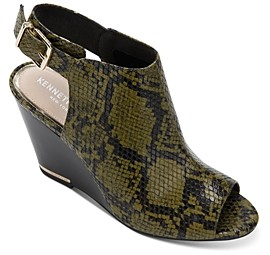 Kenneth Cole Women's Merrick Snake Print Wedge Heel Sandals